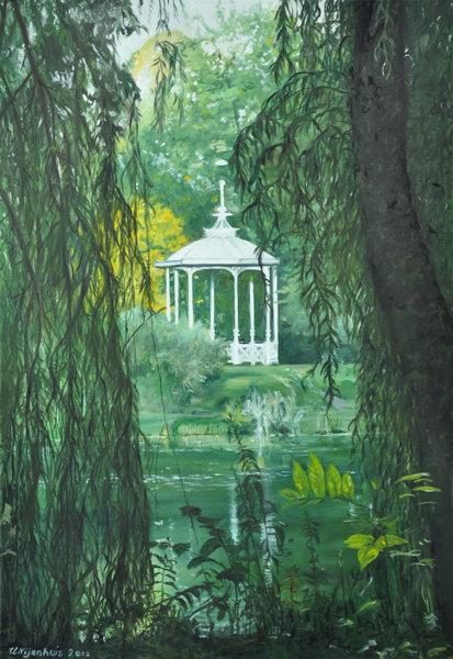 Pavillon im Palmengarten in Leipzig, Gemälde
